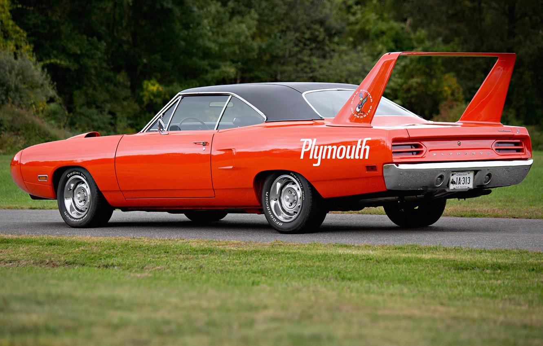 Фото обои мускул кар, Plymouth, плимут, Superbird, Road Runner