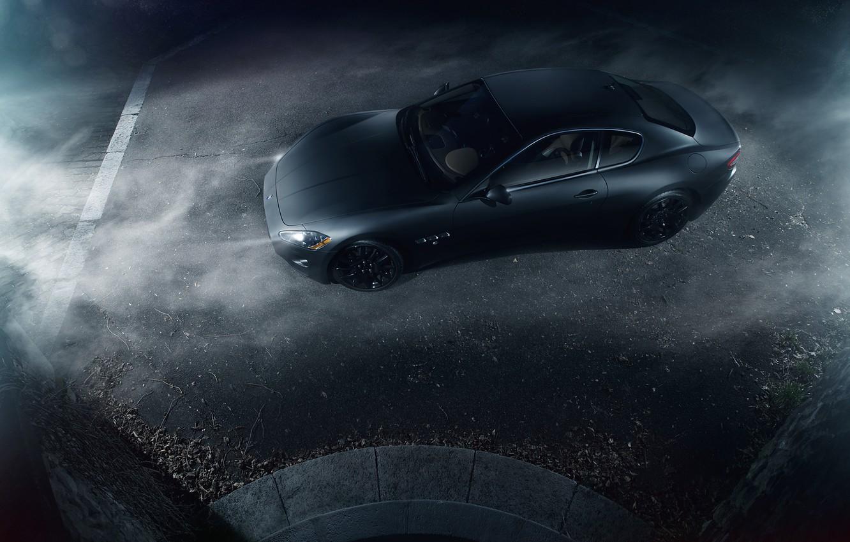 Фото обои Maserati, Turismo, Black, Smoke, Gran, Italian, Exotic