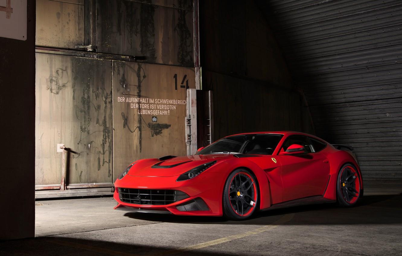 Фото обои Ferrari, Berlinetta, F12, Novitec Rosso, N-Largo