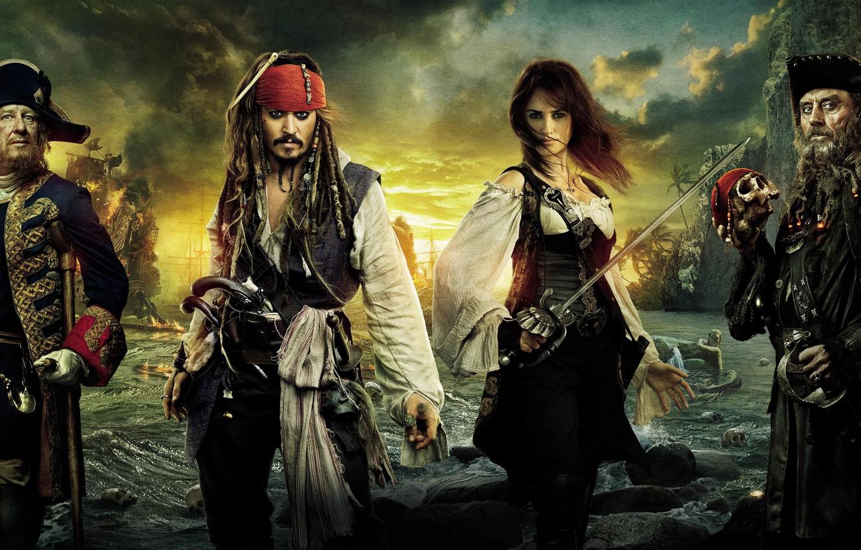 Фото обои Пираты, моря, берегах, странных, Карибского