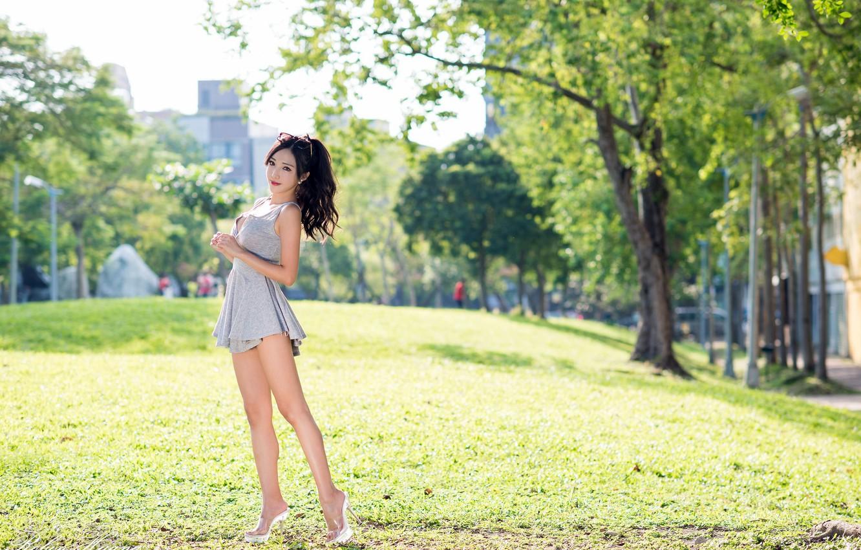 Фото обои лето, девушка, азиатка