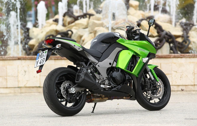 Фото обои Kawasaki, Green, Z1000SX