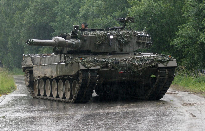 Фото обои Танк, Leopard 2A4, Leopard 2, Леопард 2, Бронетехника
