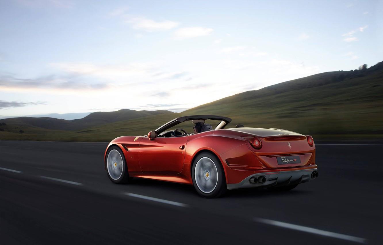 Фото обои Феррари, Калифорния, Ferrari, Турбо, Задок, California T
