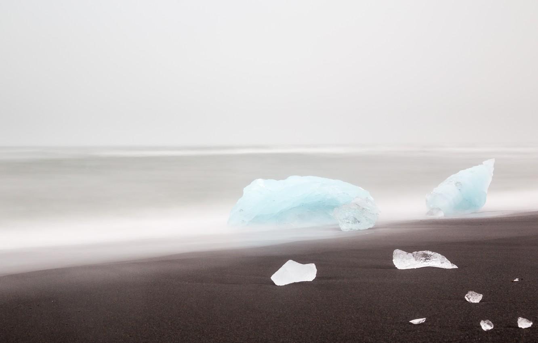 Фото обои море, берег, лёд