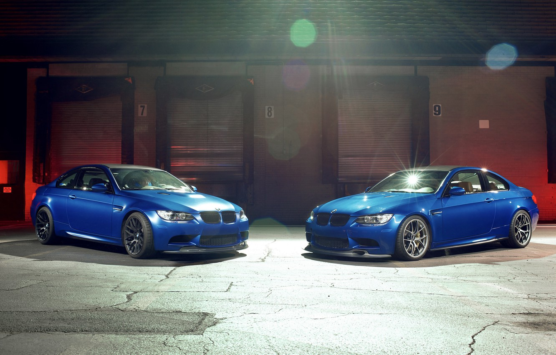 Фото обои блики, bmw, бмв, купе, вид спереди, синие, blue, e92