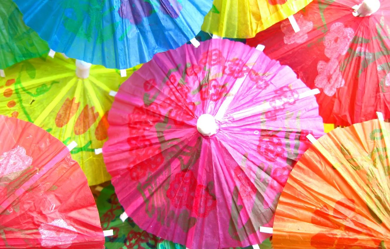 Фото обои текстура, colorful, коктейль, зонты, красочные, texture, cocktail, umbrellas