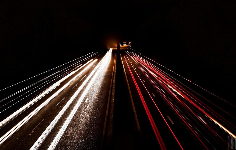 Обои дорога, ночь, огни. Разное foto 9