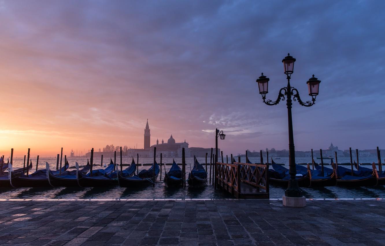 Обои Ступени, дома, венеция, лодка, утро, канал. Города foto 10