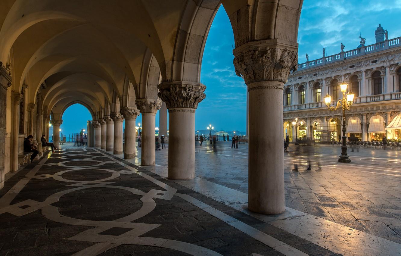 Обои дворец дожей, венеция, пьяцетта, Колонна Святого Марка. Города foto 13