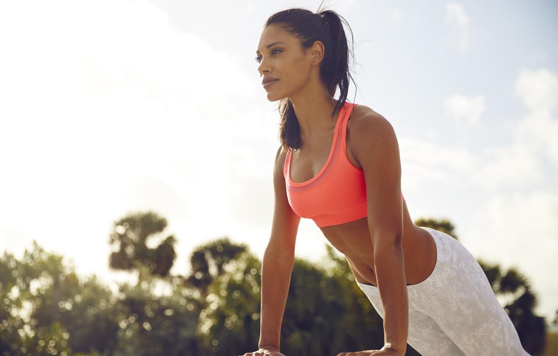Фото обои back, workout, fitness, shoulders