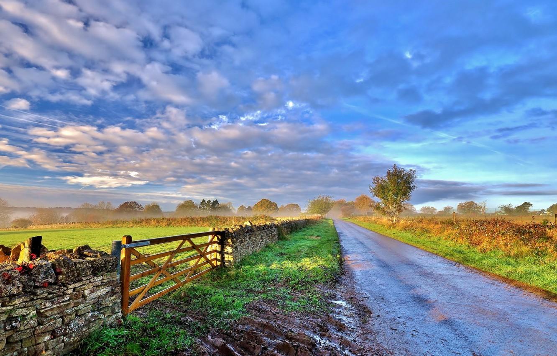 Обои Пейзаж, забор. Пейзажи foto 8