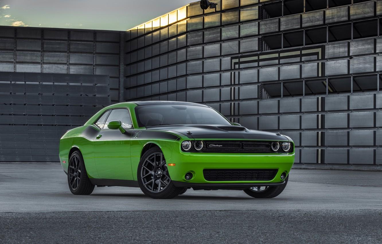 Фото обои green, Dodge, Challenger, автомобиль, мускулкар, додж, muscle car, маслкар, T/A