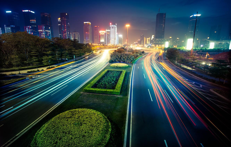 Обои уличные, buildings, lights, street, зданий. Города foto 7