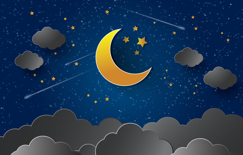 Луна и звезды картинки детские