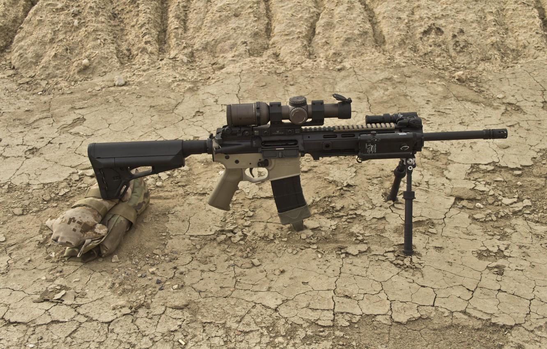 Фото обои оружие, оптика, штурмовая винтовка, сошка