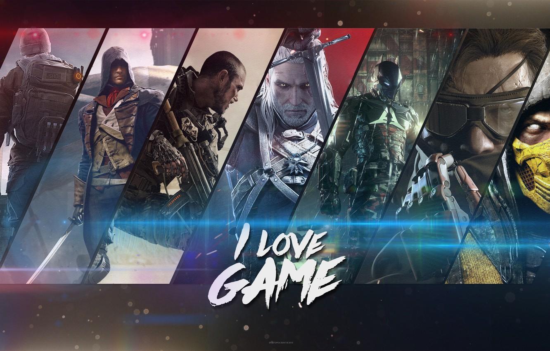 Фото обои Call of Duty, The Witcher, Batman, Mortal Kombat, Unity, Arkham Knight, Advanced Warfare, Игоры, METAL …