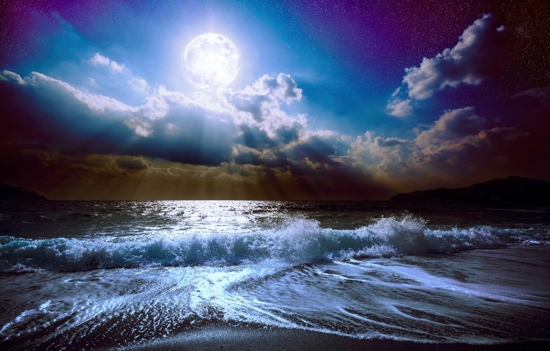 Обои Облака, ночь. Природа foto 14