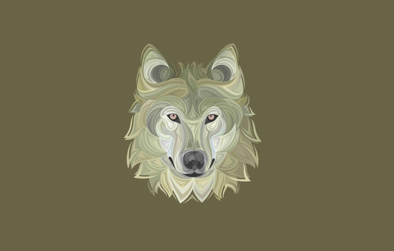 Фото обои морда, волк, собака, минимализм, голова, wolf