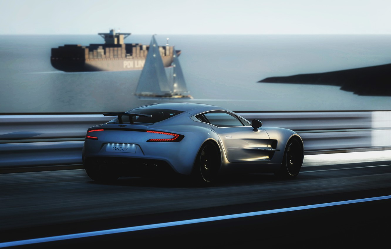 Фото обои Aston Martin, скорость, ONE-77