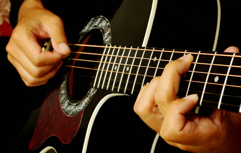Обои Гитара, струны, гриф, музыкальный инструмент. Музыка foto 13
