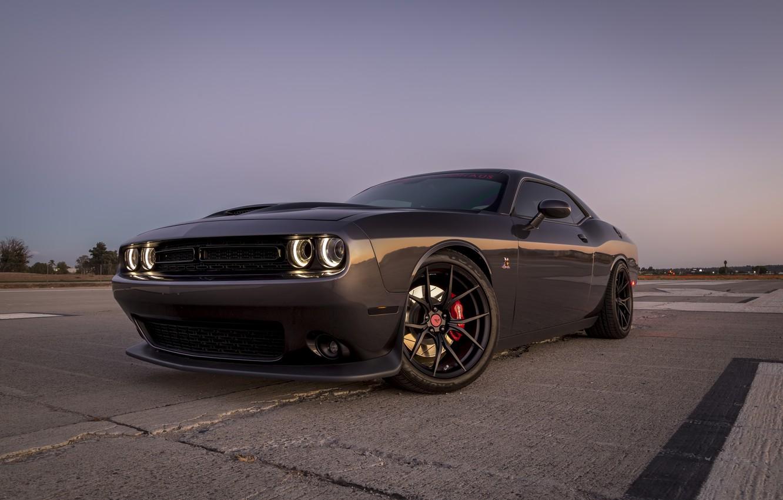 Фото обои Dodge, Challenger, Black, 430, Satin, 20, V-FE