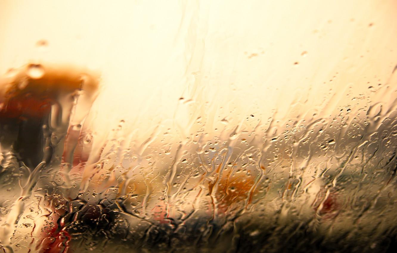 Фото обои стекло, вода, капли, свет, дождь, ливень, потоки