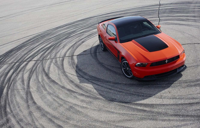 Фото обои Mustang, Ford, 2012, 302, Boss