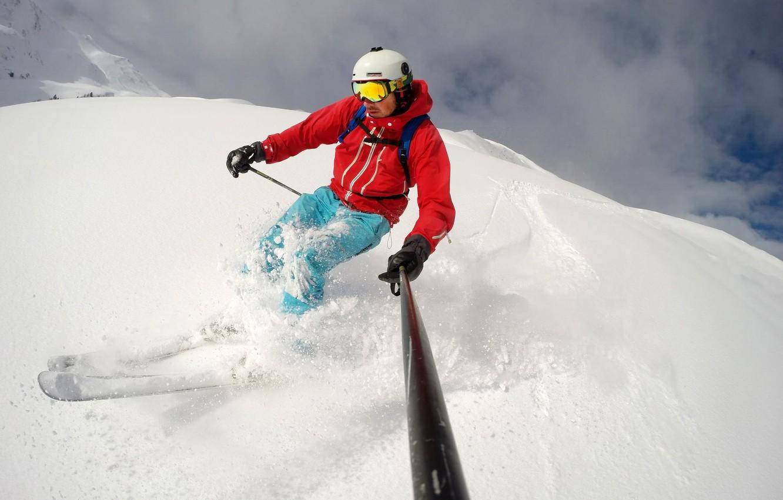 Обои Ski, speed rider, спидглайдинг, canopy, Лыжи, экстремальный спорт. Спорт foto 8