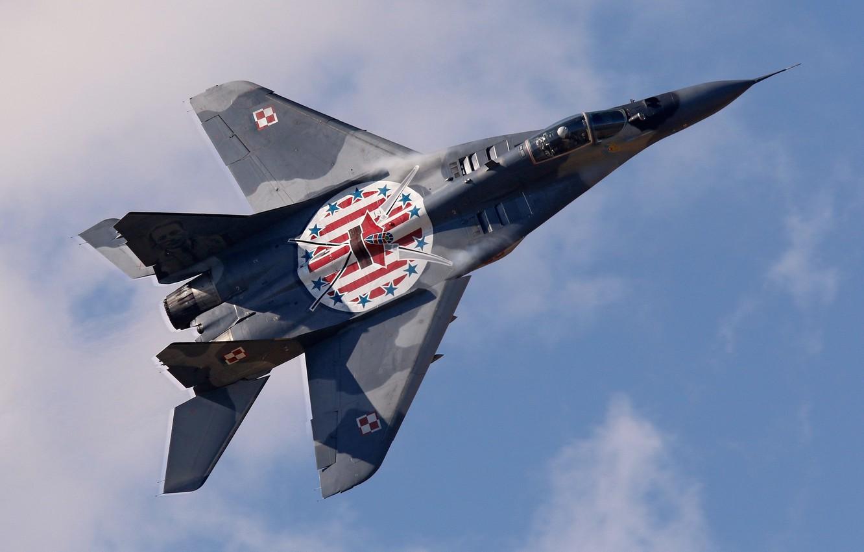 Фото обои небо, истребитель, пилот, многоцелевой, МиГ-29