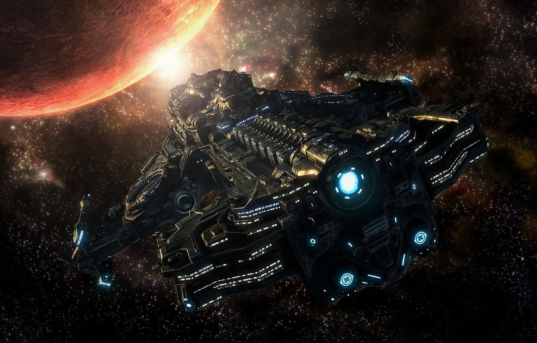 Oboi Kosmos Zvezdy Planeta Starcraft 2 Kosmicheskij Korabl