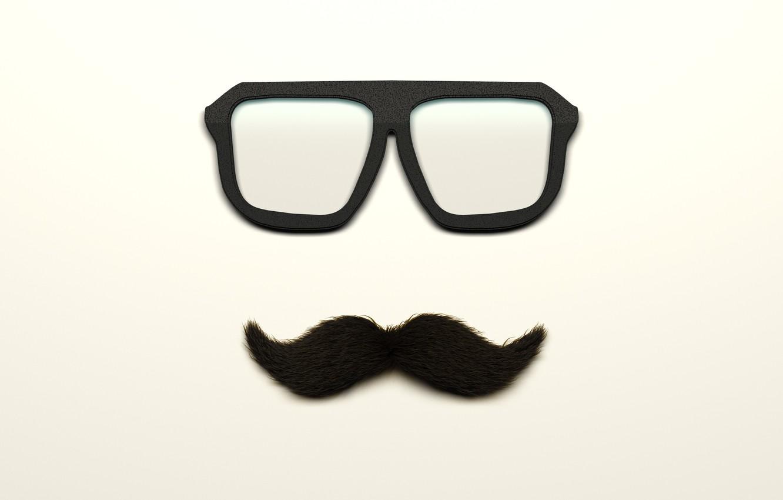 Фото обои усы, очки, glass, moustache