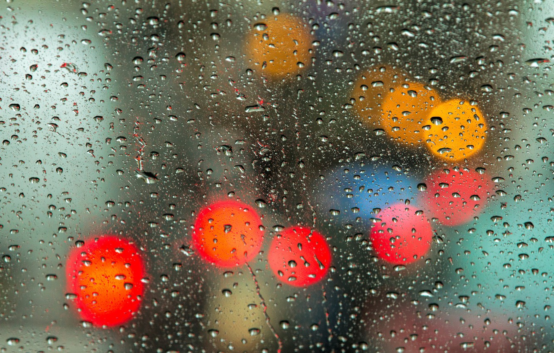 Фото обои стекло, капли, свет, боке, глобусы