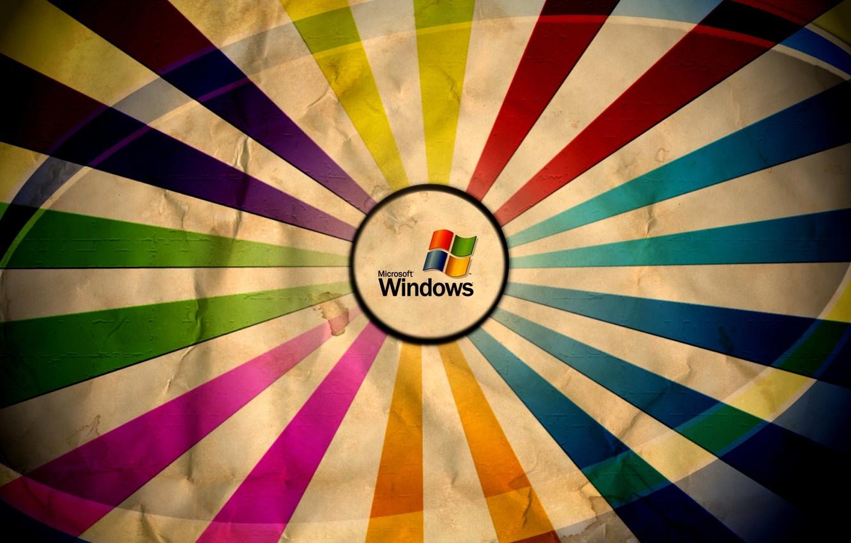 Фото обои цвета, colors, microsoft windows, мятая бумага