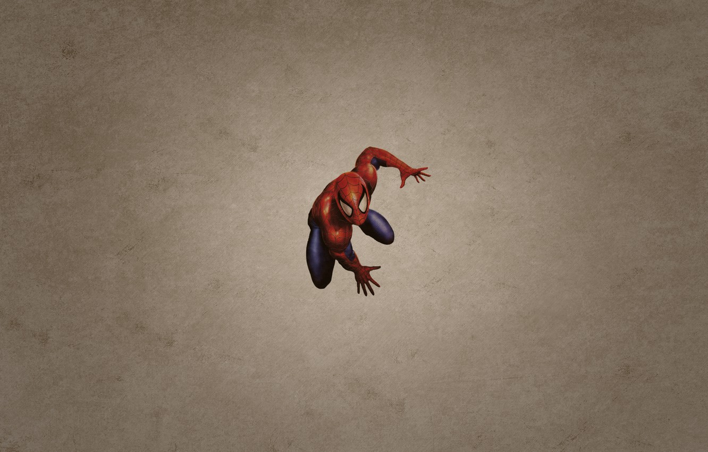 Фото обои минимализм, человек паук, spider man, темноватый фон
