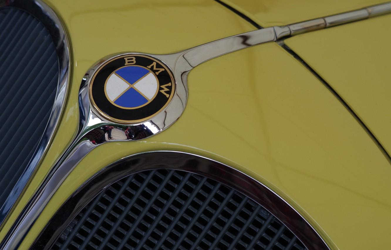 Фото обои значок, капот, BMW, бренд