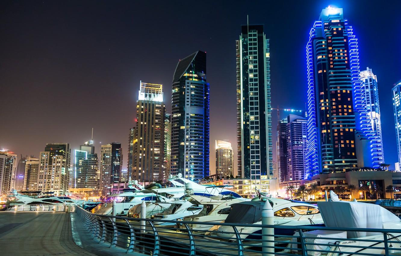 Обои сверху, дороги, Объединённые арабские эмираты, ночь. Города foto 12
