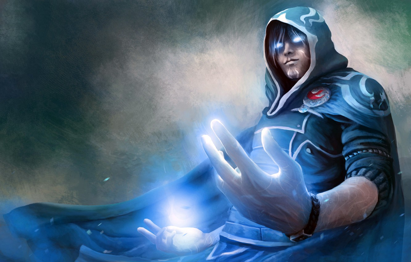 Фото обои MTG, Magic the gathering, Planeswalker, Jace Beleren, работа Stefan Celic