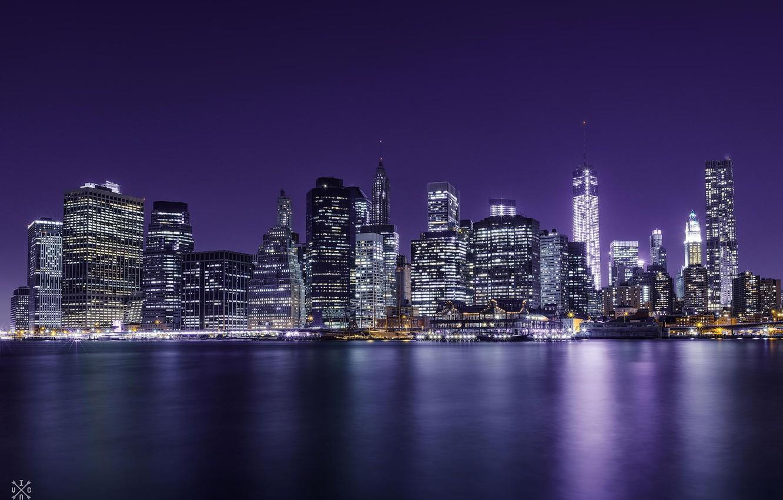 Обои небоскребы, ночь, дома. Города foto 11