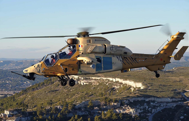 Обои ec 665, ударный, Tiger, Eurocopter. Авиация foto 8