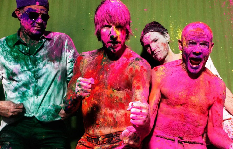 Фото обои Red Hot Chili Peppers, album, Anthony Kiedis, Michael Balzary, Flea, John Frusciante, Chad Smith, The …