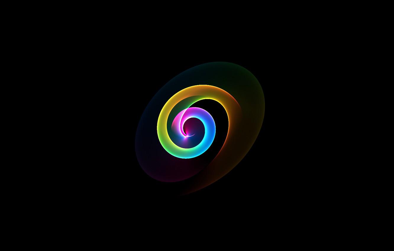 Обои Кольцо, спираль, обои, Цвет, свет. Абстракции foto 8