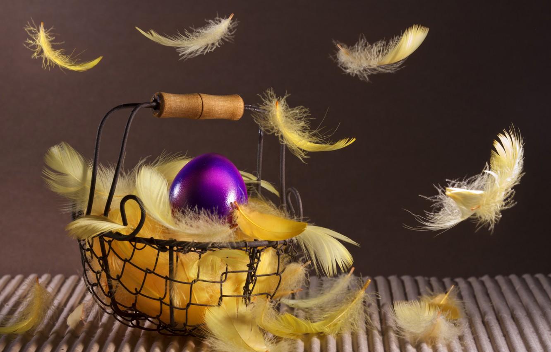 Обои перья, яйца. Праздники foto 13