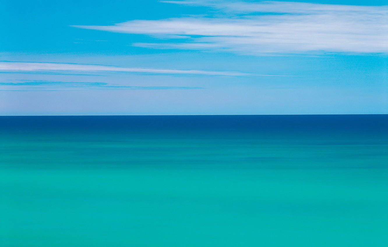 Фото обои море, облака, Горизонт, 151