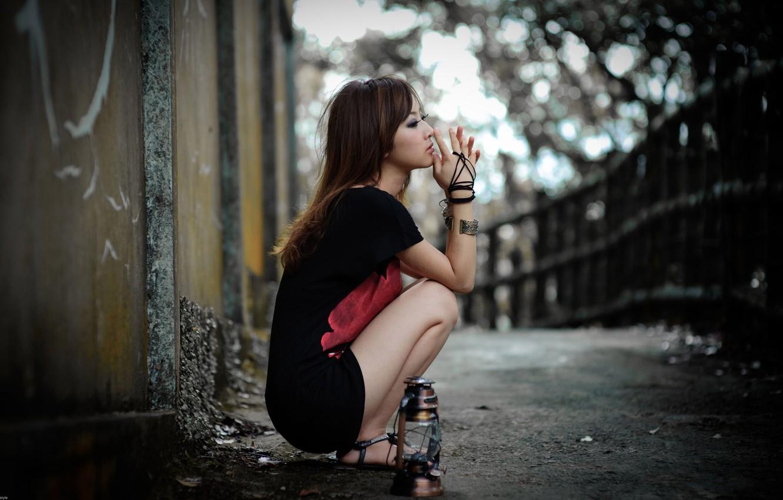 Фото обои грусть, одиночество, мысли, Девушка