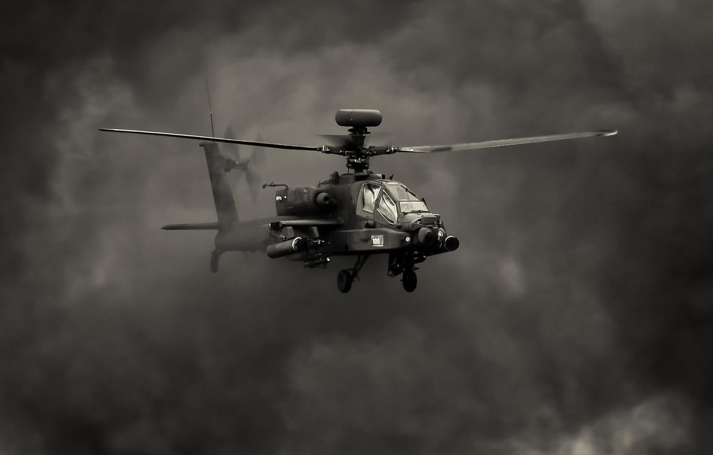 Обои ударный, Apache, дым, основной, «апач». Авиация foto 8