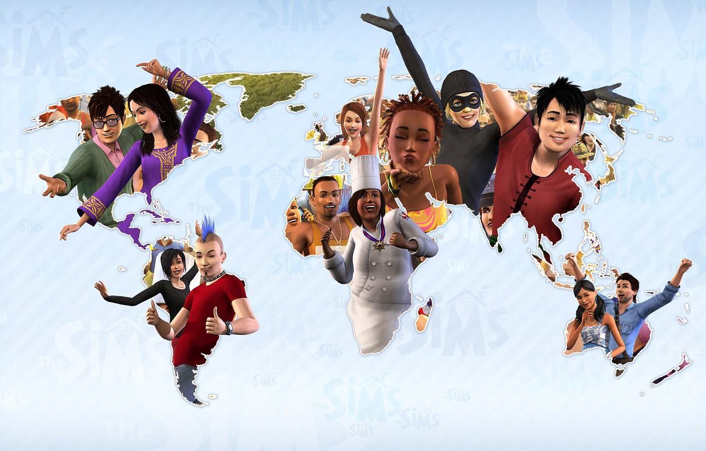 обои карта персонажи симулятор The Sims 3 картинки на