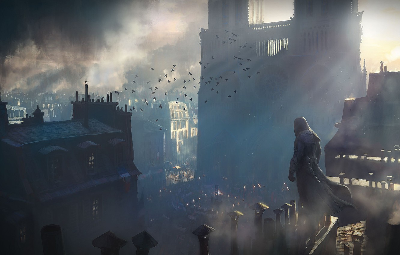 Фото обои город, франция, ассасин, Assassin's Creed: Unity
