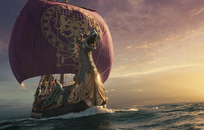 Фото обои море, корабль, паруса