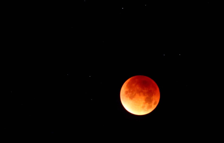 Фото обои небо, звезды, свет, вселенная, планета, Луна